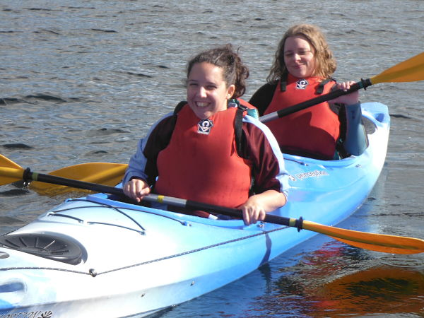 Visually Impaired Children enjoying kayaking