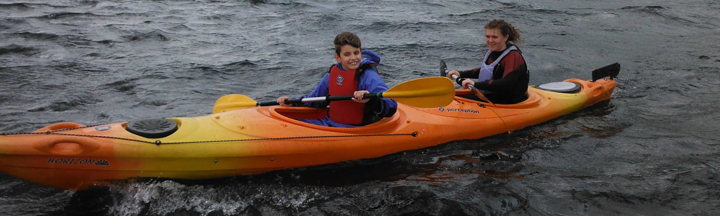 Can you paddle a kayak? On an Outlook Trust activity break you can.