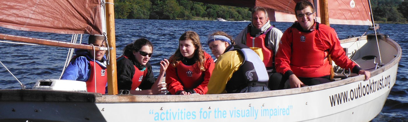 The visually impaired sailing activity with the Outlook Trust.