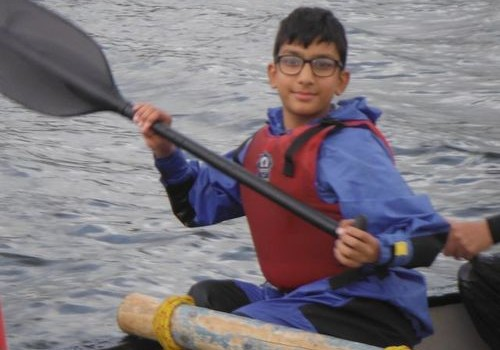 kayaking on visually impaired activity weekend
