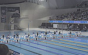 swimming at the paralympic games - a visually impaired sport