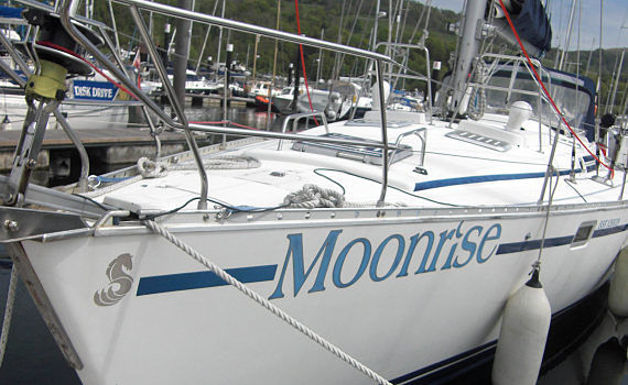 moonrise yacht charted for blind & visually impaired sailing week in Scotland